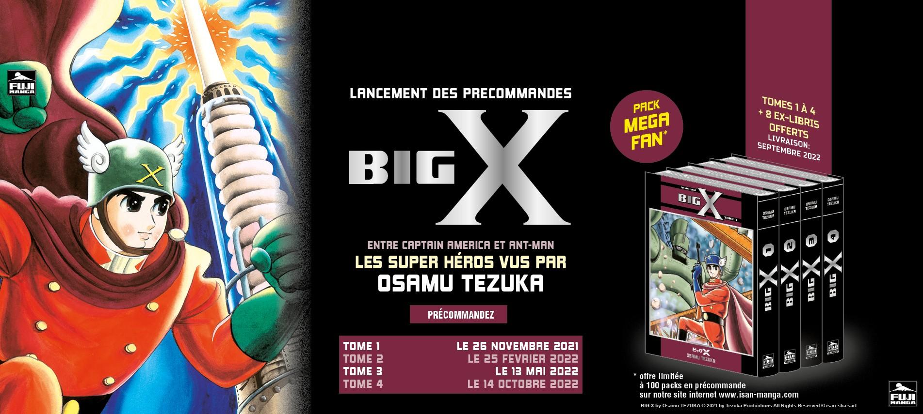 Big X entre Captain America et Ant-Man, les Super Héros vus par Osamu Tezuka