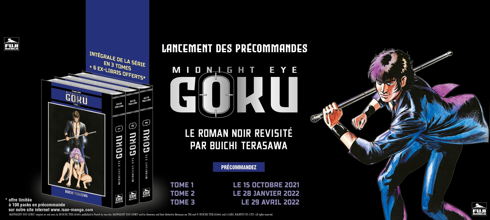Midnight Eye Gokû : Roman Noir et Cyberpunk par Buichi TERASAWA
